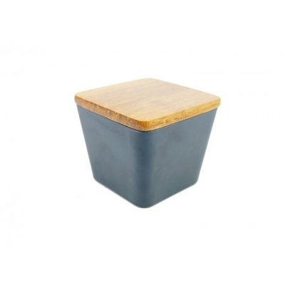 BAMBOO FLOWER CANDLE 2 IN 1 DARK COFFEE