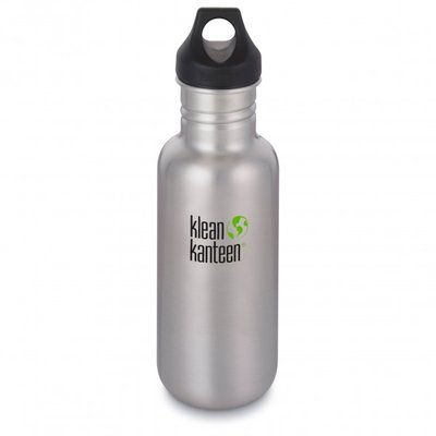 Klean Kanteen Classic Drinkfles Loop Cap, brushed stainless 532 ml