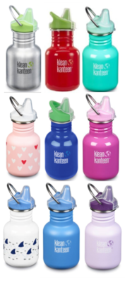 Klean Kanteen drinkfles (RVS) sippy tuitdop 355 ml