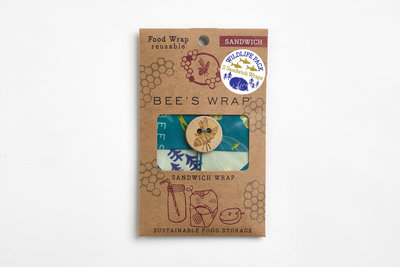 Limited edition 2- pack sandwichwraps ocean en bees en bears
