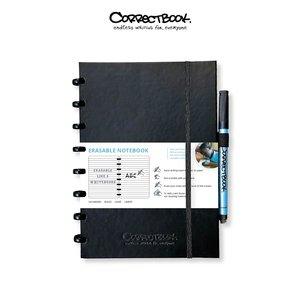 Whiteboard notitieblok / schrift - Correctbook A5 hardcover premium Black