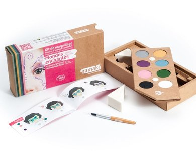 Namaki gecertificeerde biologische en hypo allergene maquillage kit (8 kleuren) Magical World