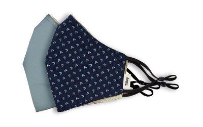Tilley Katoenen wasbare mondkapjes (2stuks), blauw
