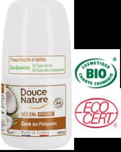 Douce Nature Biologische Deodorant roll on kokos 24h - 50 ml