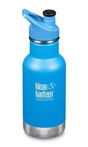 Klean Kanteen Drinkfles geïsoleerd sportcap - 355 ml Pool Party. ( klein deukje op fles)