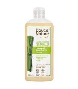 Douce Nature Biologische Douchegel & shampoo familie lemongrass- 1 Liter