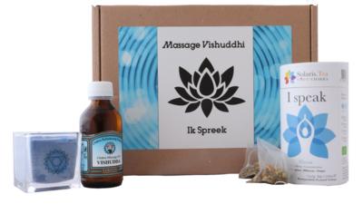 "Massage cadeau doos Vishuddhi, ""Ik spreek"""