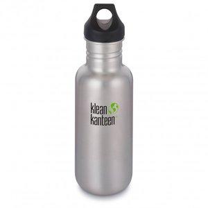 Klean Kanteen Classic Drinkfles Loop Cap, brushed stainless 532 ml