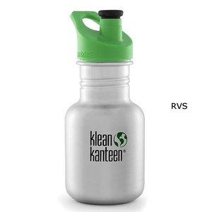 Klean Kanteen drinkfles Sippy sportcap brushed stainless RVS- 355 ml